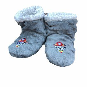 Paw Patrol Slipper Plush Booties Gray Slip On Todd